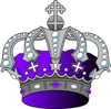 Silver Purple Crown Clip Art