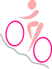 Girl On Bike Silhouette. Clip Art