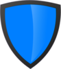 Blue Shield With Dark Edge Clip Art