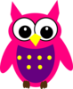 Pink Purple Yellow Owl Clip Art