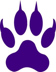 License Paw Print Clip Art