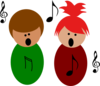 Children Singing2 Clip Art