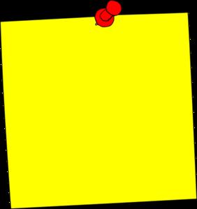 Yellow Sticker Note Clip Art at Clker.com - vector clip ...