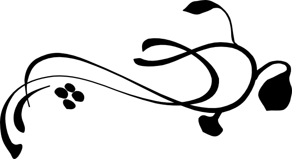 Large black vine clip art at clker com vector clip art online