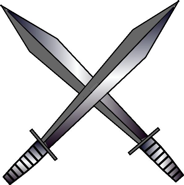 Grey Cross Swards Clip Art at Clker.com - vector clip art online ...