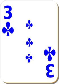 3 Of Clubs Clip Art