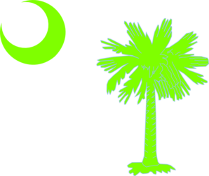 Sc Palmetto Tree - Green Clip Art