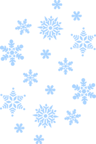 Snow falling. Blue clip art at