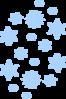 Blue Snow Falling Clip Art at Clker.com - vector clip art ...