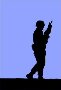 Soldier Guarding Clip Art