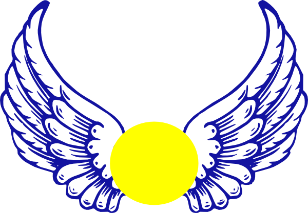 Blue Eagle Wing With Softball Clip Art At Clker Com
