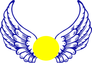 Blue Eagle Wing With Softball Clip Art