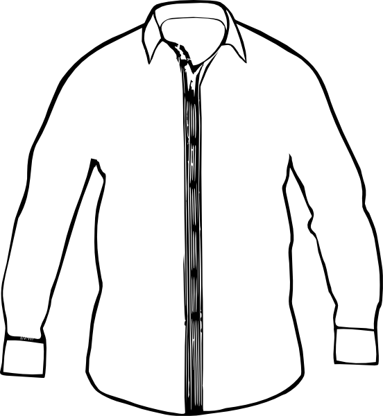 White Collared Shirt Clip Art at Clker.com - vector clip ...
