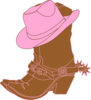 Lighter Brown Cowgirl Boots1 Clip Art