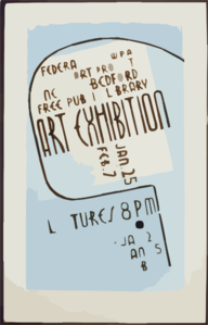 Art Exhibition, Wpa Federal Art Project, New Bedford Free Public Library, Jan. 25 To Feb. 7 Lectures. Clip Art