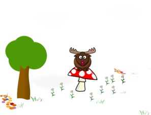 Meadow Mushrrom Daisy Clip Art