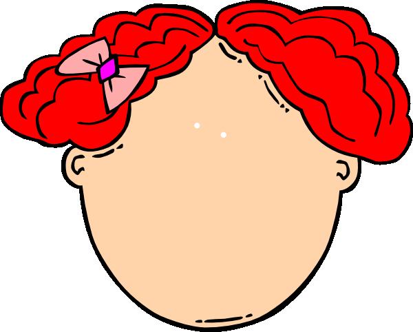 red hair girl blank face clip art at clker com vector clip art rh clker com happy girl face clipart girl face clipart png