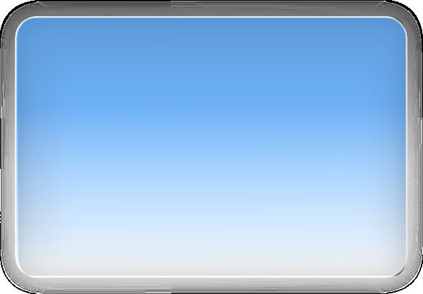 Blue Glossy Rectangle Button Clip Art At Clker Com