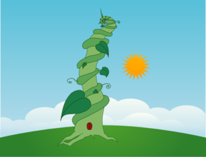 Beanstalk With Wide Background Clip Art
