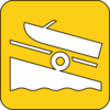 Boat Launch Symbol Yellow Clip Art
