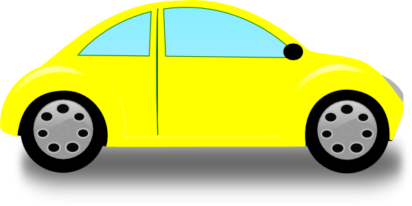 Vw Bug Cartoon Beetle yellow clip art