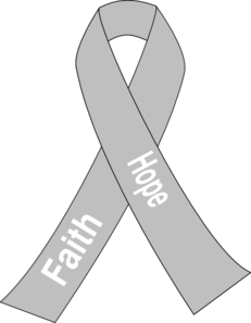 Lung Cancer Ribbon Clip Art