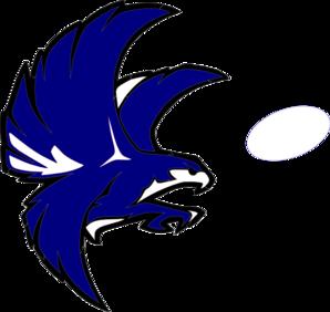 blue and white falcon clip art at clker com vector clip art online rh clker com falcons clip art free falcon clipart black and white