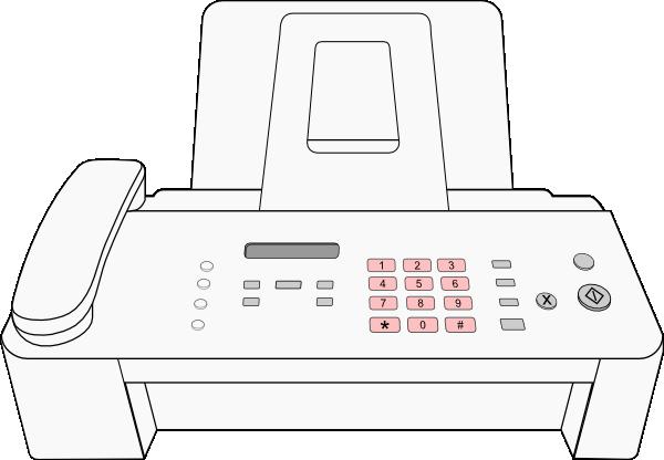 Modern Fax Machine Clip Art at Clker.com - vector clip art ...