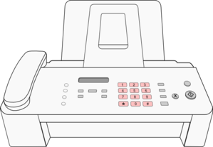 Modern Fax Machine Clip Art