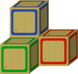 Wooden Blank Blocks Clip Art