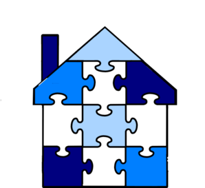 Puzzle Pieces House Clip Art