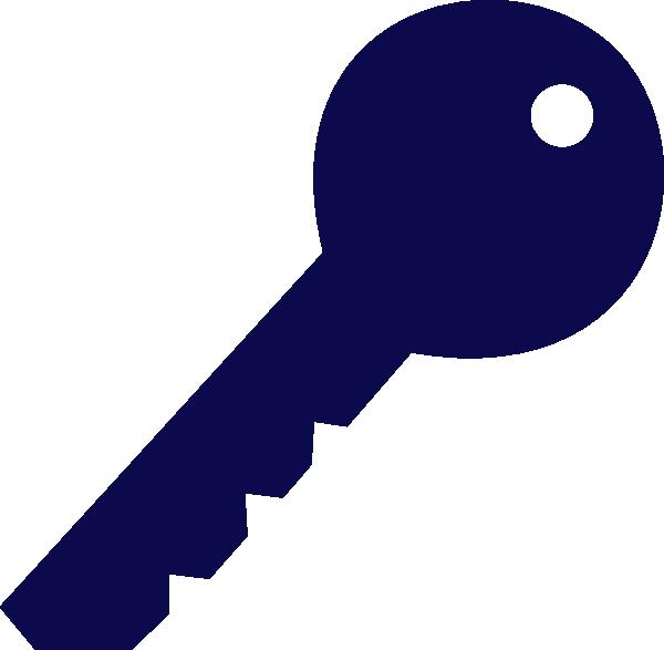 Blue Key Clip Art At Clkercom Vector Clip Art Online Royalty
