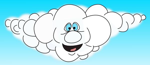 Happy Cloud Clip Art at Clker.com - vector clip art online ...