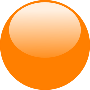 Bubble Orange Clip Art