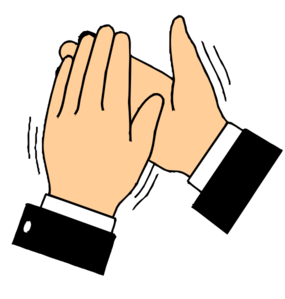 Clapping Hands (transparent B/g) Clip Art