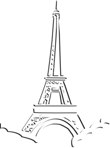 Eiffel Tower Triple Layer Clip Art