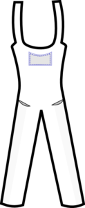 Overall Outline Clip Art