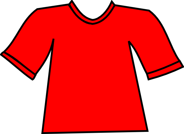 red tshirt clip art at clkercom vector clip art online