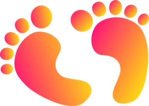 Two Tone Baby Feet Clip Art