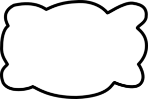 Plain White Cloud Clip Art