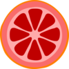 Blood Orange Slice Clip Art