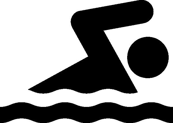 Black Swim Clip Art at Clker.com - vector clip art online ...