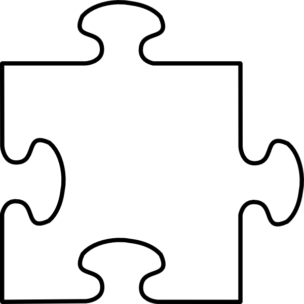 Puzzle Piece Frame Three Clip Art at Clker.com - vector ...