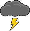 Cloud With Lightning Bolt Clip Art