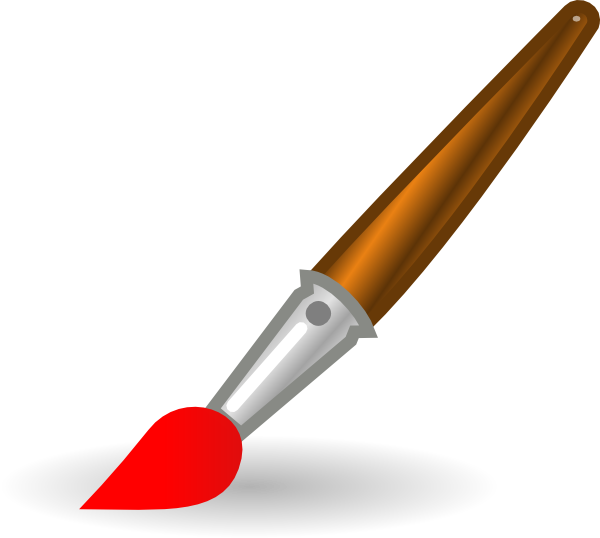 Paint Brush Clip Art at Clker.com - vector clip art online, royalty ...