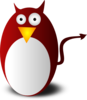 Devil Penguin Cartoon Clip Art