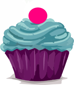 Cupcake With Gumball Clip Art