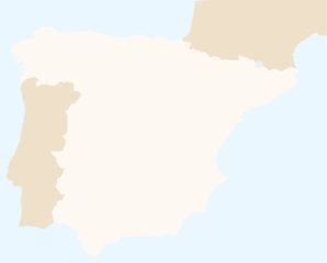 Spain Region Map Clip Art
