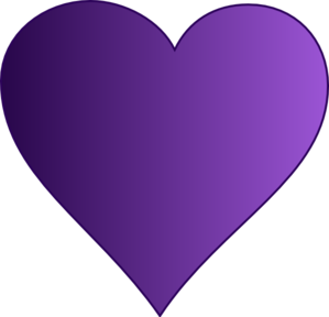 purple heart clip art at clker com vector clip art online royalty rh clker com