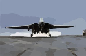 F-14d Makes An Arrested Landing Clip Art